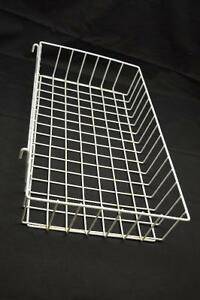 White Grid wall basket