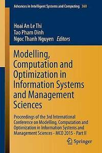 Modelling, Computation and Optimization in Information Systems and Management...