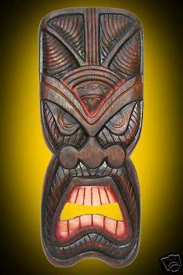 HAWAIIAN Shield  MASK Polynesian  Decor Oceanic Art