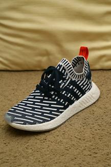 Adidas NMD R2 Primeknit Navy/White Men US8