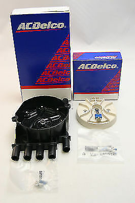 New OEM ACDelco Rotor D465 10452457 and Distributor Cap 10452459 D329A Kit NIP