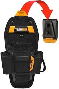 Toughbuilt Tool Belt 7 Pocket Pouch Storage Holder Clips Medium Black Technician
