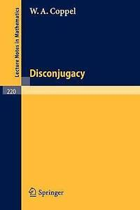Disconjugacy (Lecture Notes in Mathematics), Coppel, W. A., New Book