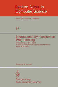 """International Symposium on Programming: Proceedings of the Fourth """"Colloque Int"""
