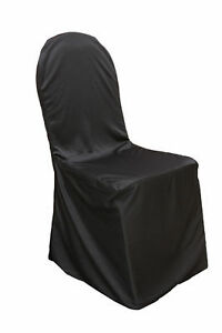 Black Scuba Banquet Size Chair Covers for Sale
