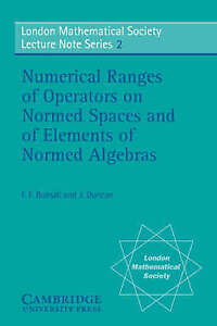 Numerical Ranges of Operators on Normed Spaces and of Elements of-ExLibrary