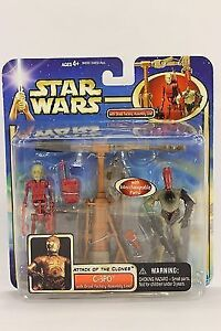 STAR WARS ATTACK OF THE CLONES C-3PO with DROID FACTORY ASSEMBLY