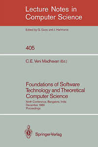 Foundations of Software Technology and Theoretical Computer Science: Ninth Conf