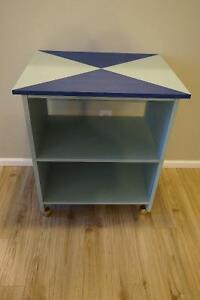 Mid-Century Modern Kitchen Cart or File Cabinet on Wheels