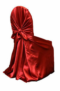 Red Satin Chair covers