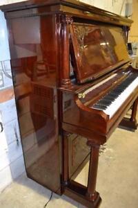 Piano droit antique Wormwith restauré