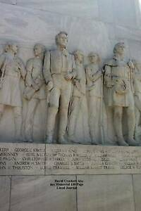 David Crockett Alamo Memorial 100 Page Lined Journal: Blank 100 page lined journ