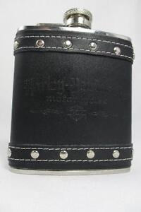HARLEY DAVIDSON MOTORCYCLES FLASK Leather 20$