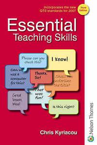 ESSENTIAL TEACHING SKILLS. THIRD EDITION., Kyriacou. Chris., Used; Good Book