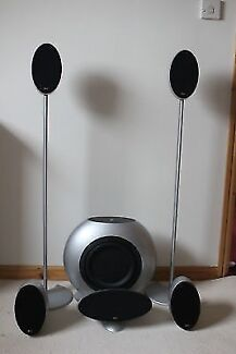 KEF HTS3001 Satellite Speakers with Yahama RX-V863 Amp