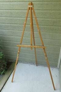 Chevalet d'artiste peintre en bois