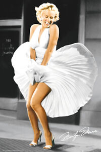 MARILYN MONROE - SEVEN YEAR ITCH MOVIE POSTER - 24x36 SHRINK WRAPPED DRESS 33760