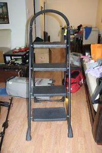 NEVER USED FOLDING STEP LADDER....BOUGHT $40+