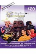 PlayStation Network Card 20 Euro
