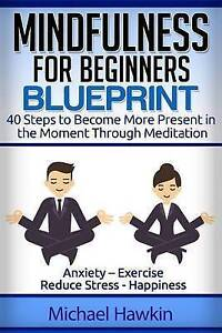 Mindfulness for Beginners Blueprint 40 Steps Become More Pres by Hawkin MR Micha