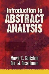 Introduction to Abstract Analysis by Marvin Goldstein (Paperback, 2015)