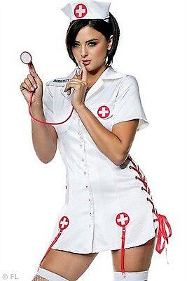 Seven Til' Midnight Costume Nurse Nicky 10118 White/Red Large](Seven Til Midnight Costumes)