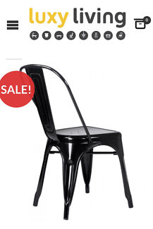 black gloss tolix chair slight damage dining chairs gumtree