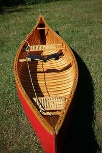 Westport Solo 14' Wood and Canvas Canoe
