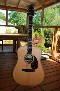 Larrivee dreadnaught guitar with case
