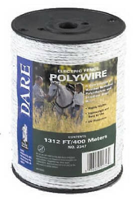 Electric Fence Wire White Poly 3-wire Stainless Steel 1312-ft. Spool