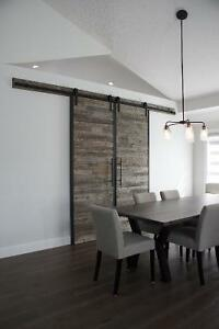 Locally Crafted Reclaimed Wood & Iron Barn Door. LIKEN Woodworks