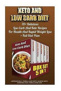 Keto Low Carb Diet Box Set 5 in 1 70+ Delicious Low Carb by Kelly Adrienne