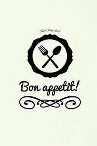 Blank Recipe Book: Bon Appetit by Recordkeeper Press -Paperback