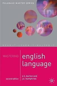 Very Good, Mastering English Language (Palgrave Master Series), Humphries, J. A.