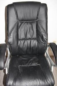 Black leather office chair Cambridge Kitchener Area image 4