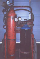 victor torch set gauges hose and with both tanks
