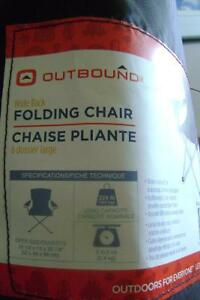 Outbound wide back queen size folding chair .
