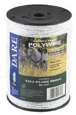 Electric Fence Wire White Poly 3-wire Stainless Steel 820-ft. Spool