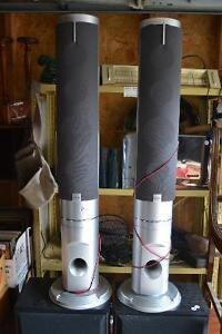 PAIR OF SANYO TOWER SPEAKERS w/ GRILLES & WIRE $30 FIRM Windsor Region Ontario image 1