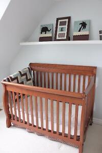 **Custom-made crib bedding set---  7 piece set ***