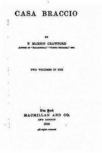 Casa Braccio by Crawford, F. Marion -Paperback