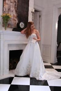 "Wedding dress -Never worn ""Mori- Lee"""