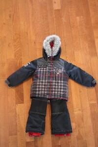 Habit / Ensemble de neige Souris-Mini 4 ans noir et rouge