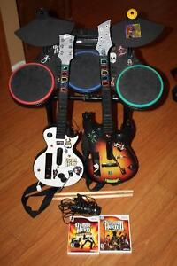 Wii Guitar Hero Games and Accessories