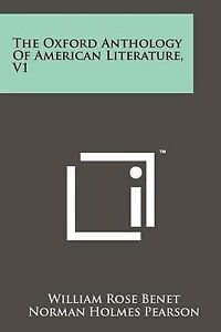 The Oxford Anthology of American Literature, V1 9781258215538 -Paperback