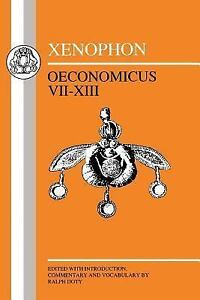 Greek-Texts-Xenophon-Oeconomicus-VII-XIII-by-Xenophon-1998-Paperback
