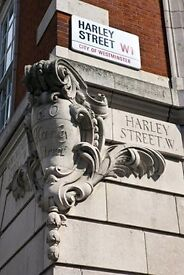 Beautiful Harley Street Therapy Room Available For Hire. Prestigious address. Fully serviced.