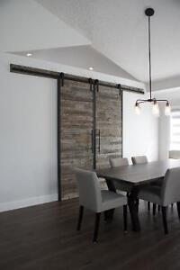 Locally Crafted Reclaimed Wood and Iron Barn Door. By LIKEN Woodworks