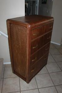 Antique Waterfall Tall dresser RealSolidWood,Excellent Condition
