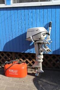 Johnson 1966 6hp outboard motor with tank
